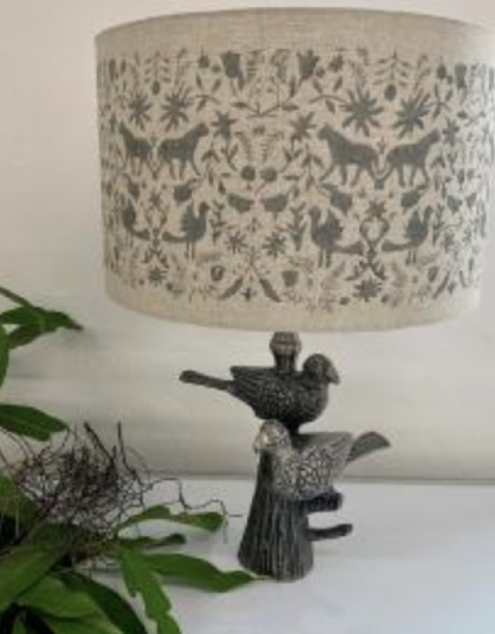 RUBY STAR TRADERS LAM253 BIRD LAMP BASE PEWTER