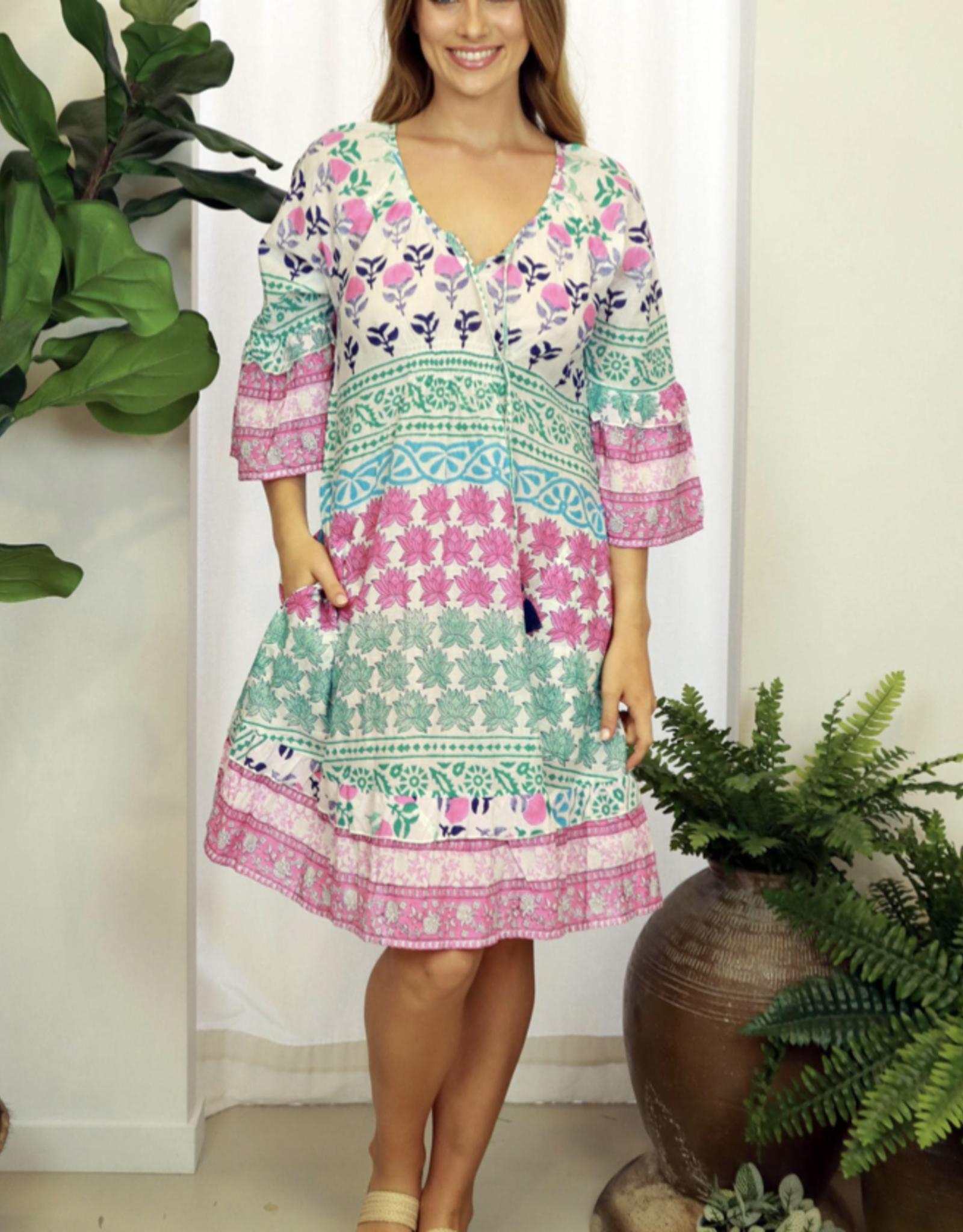 LULALIFE KAYDEN SHIRRED DRESS