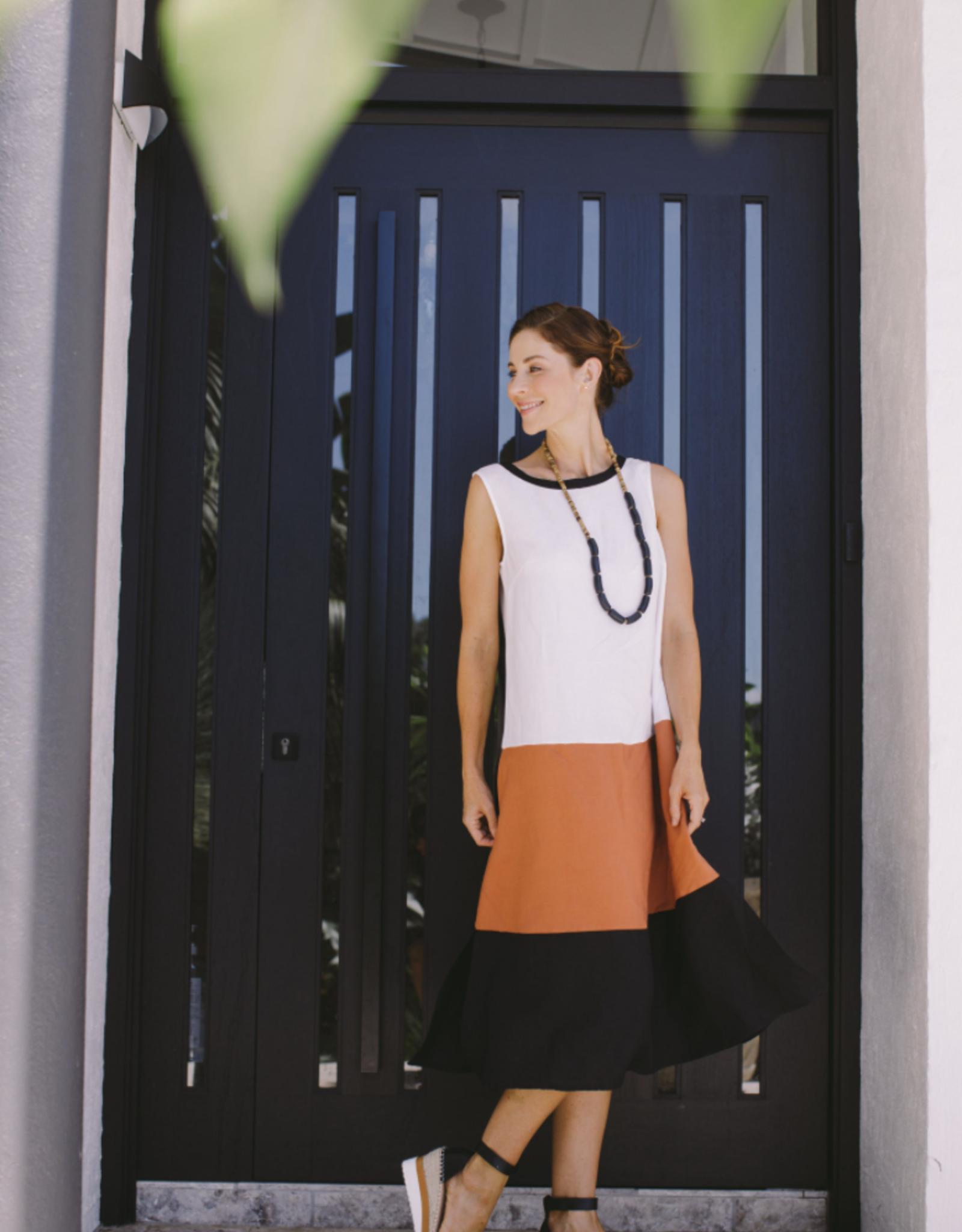 SEE SAW BLOCK MAXI DRESS