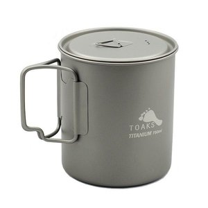 TOAKS TOAKS TITANIUM POT  WITH LID AND HANDLE 750ML