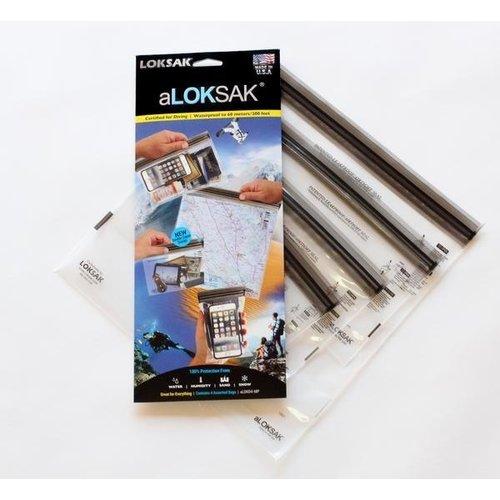 ALOKSAK ALOKSAK WATERPROOF BAG MULTI PACKS SIZE MP-1EACH OF 4X7 6X6 9X6 12X12 (4 TOTAL)