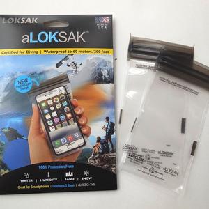 "ALOKSAK ALOKSAK WATERPROOF BAGS 2 - 4.5"" x 7"" bags (11.43 x 17.75 cm)"