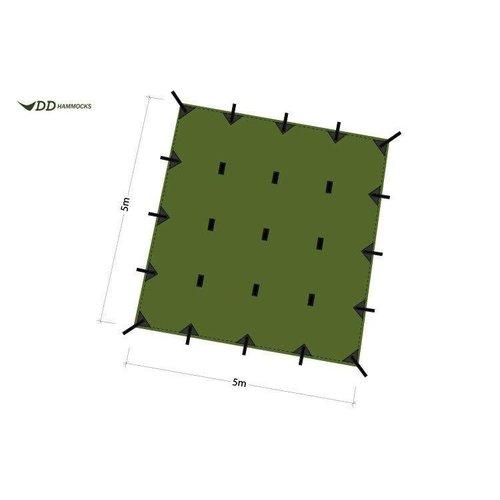 DD HAMMOCKS DD Hammocks Dd Tarp 5m X 5m, Green,
