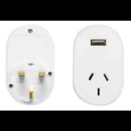 OSA Brands OSA TRAVEL ADAPTOR UK WITH USB