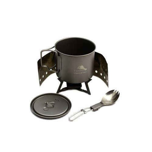 TOAKS TOAKS TITANIUM SOLID FUEL COOKSET WITH STOVE