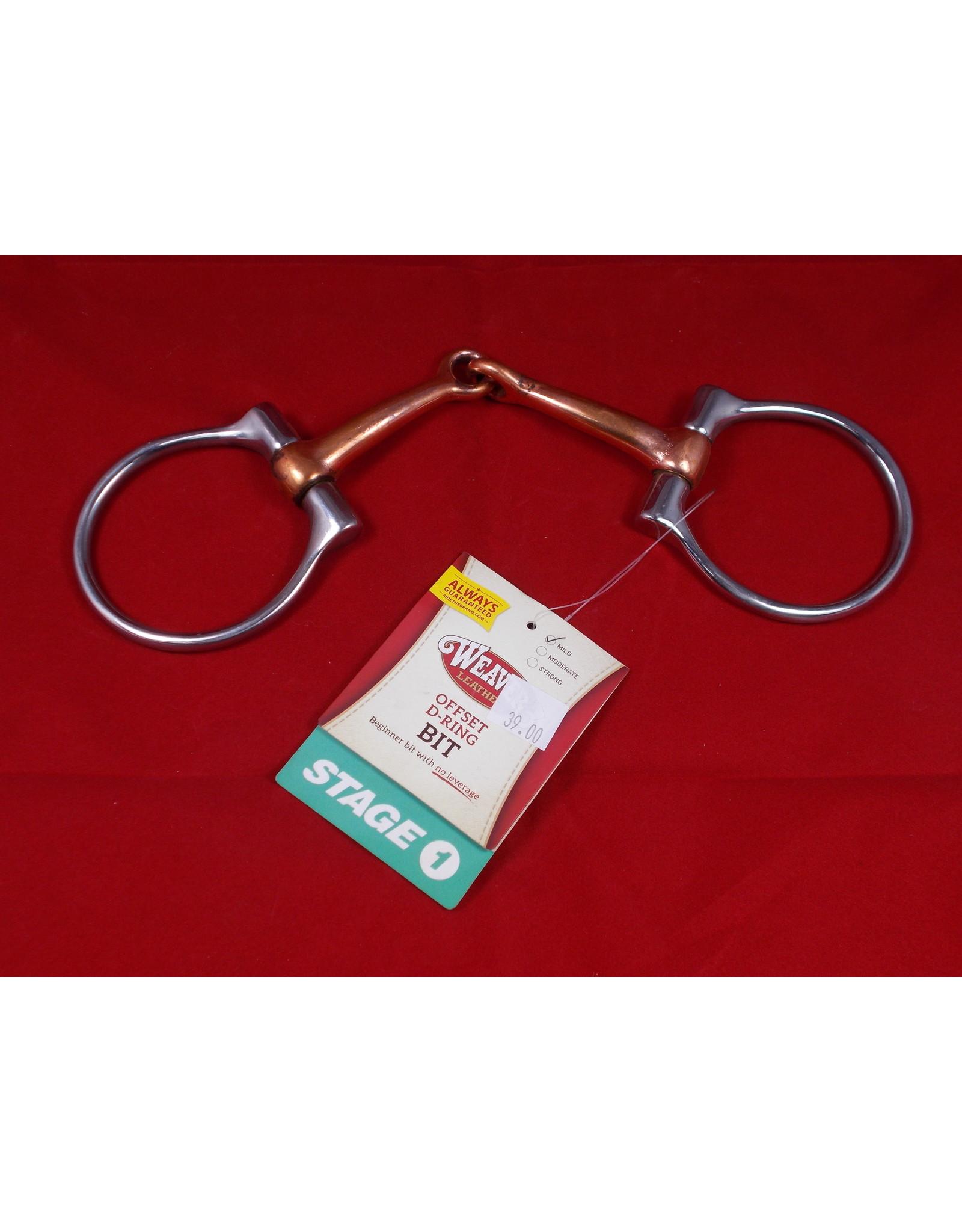 "BIT* Offset D-Ring Bit - Mild No Leverage Stage1 5"" Copper Snaffle 25-5740"