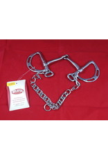 BIT* snafel d with adjustable clip areas for reins 25-5601