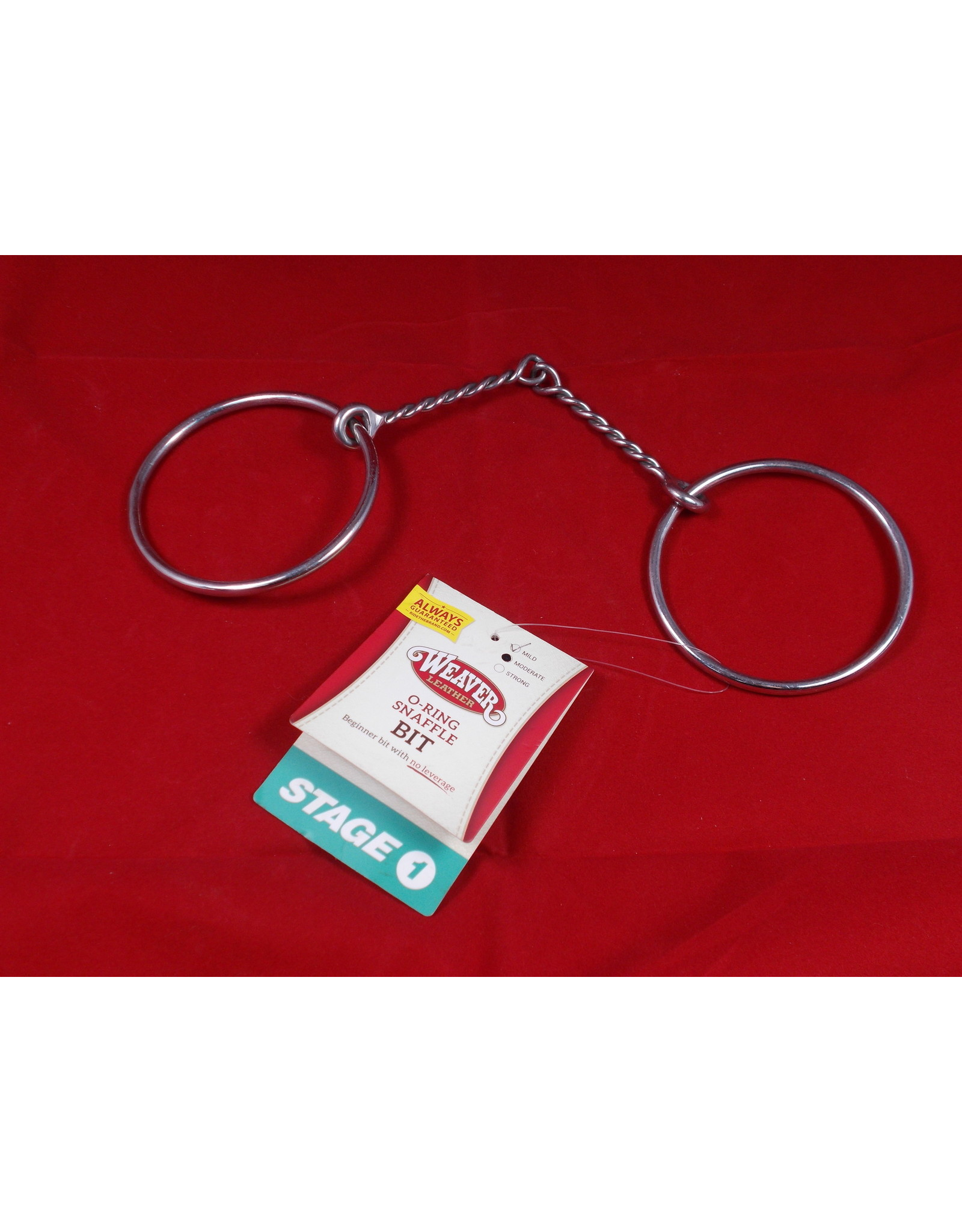 BIT* O  ring snaffle moderate stage 1 fine twisted wire o ring 25-5454