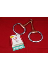 BIT* SS 5 1/2'' Copper Plated Mouth 2 -3/4'' O ring Full Cheek Snaffle 25-5311