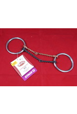 BIT* O ring snaffle stage 1 moderate twisted snaffle double with black and copper 25-1760