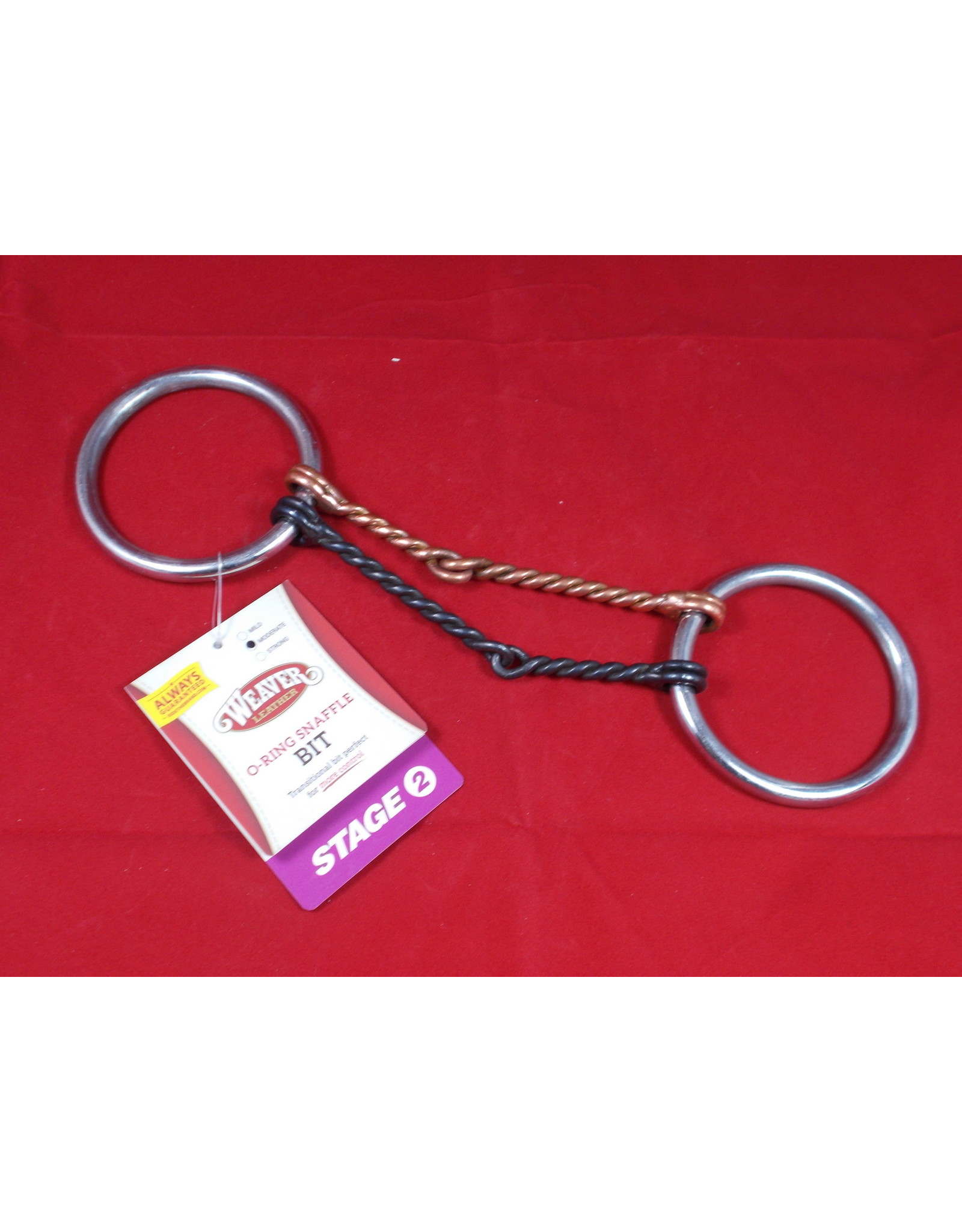 "BIT* O Ring Snaffle Stage 1 Moderate 5"" Offset DoubleTwisted Snaffle with Black and Copper 25-1760"
