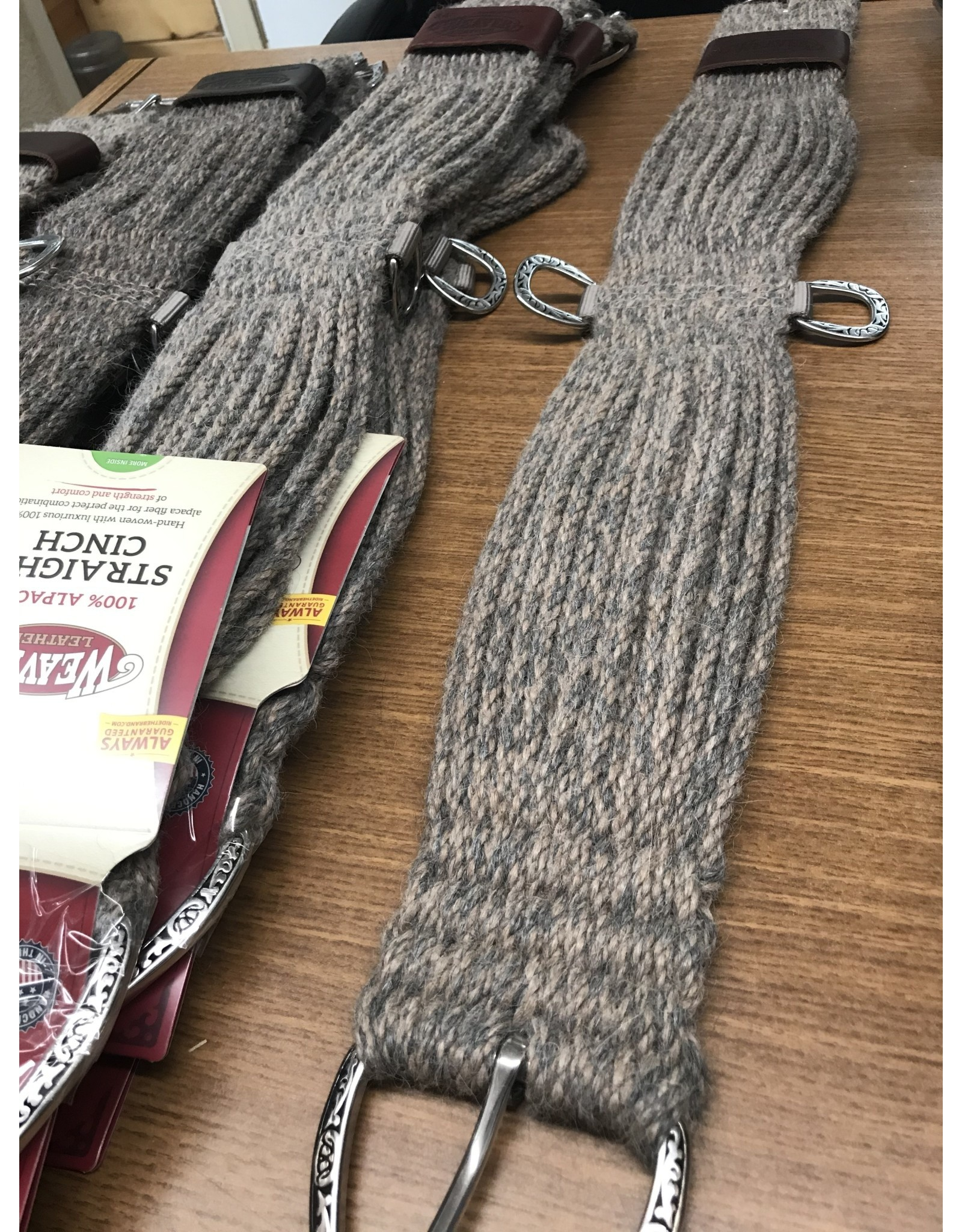 CIN* 100% Alpaca Straight Cinch 30   (fancy roller buckles and one side leather cinch holder)  35-2438