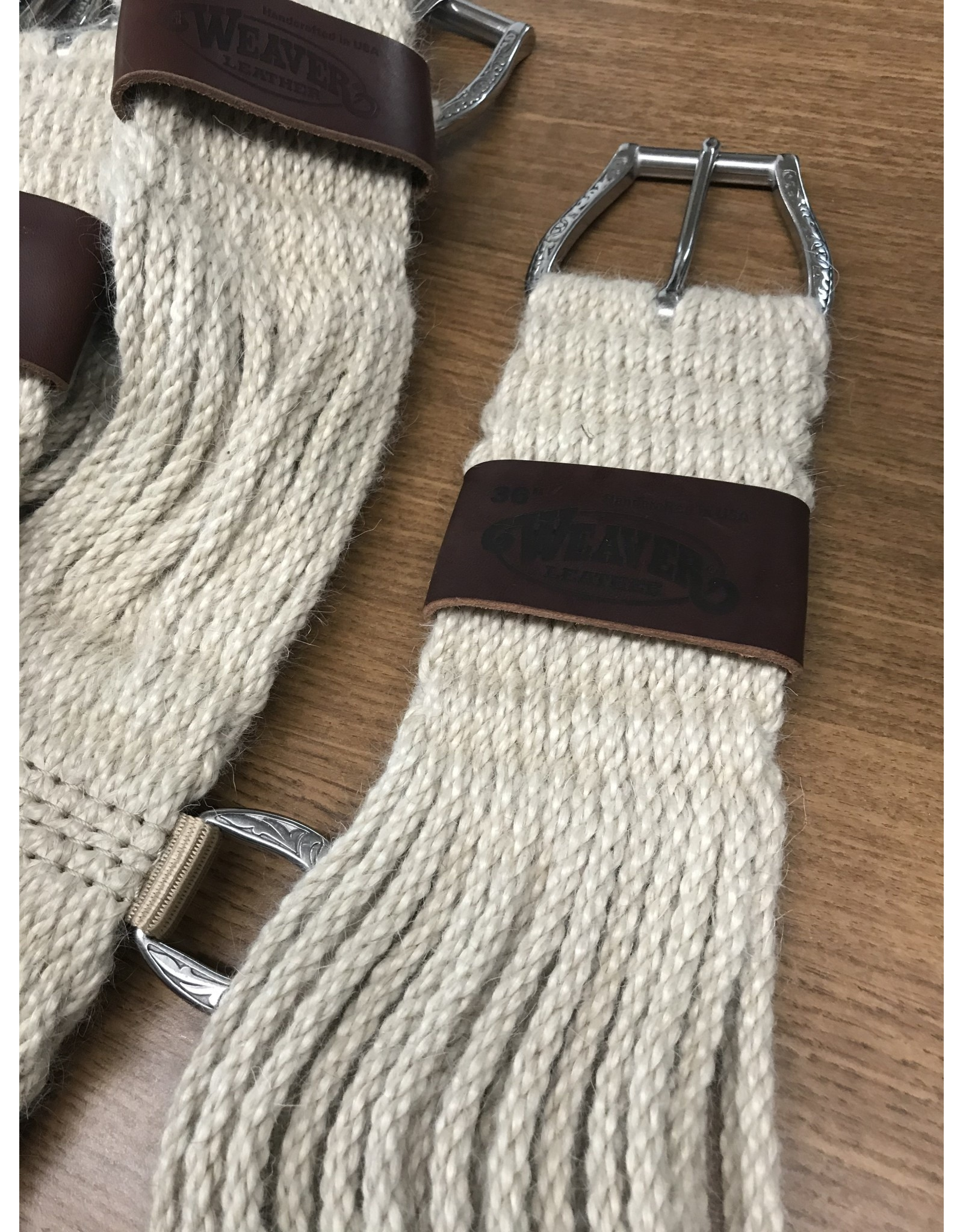 CIN* 100% Mohair Straight Cinch 32  AAAA*P (fancy roller buckles and one side leather cinch holder)35-2435