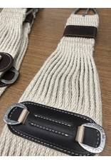 CIN* 100% Mohair Roper Cinch 34''    35-2436-34   AAAA*P (fancy roller buckles and one side leather cinch holder)