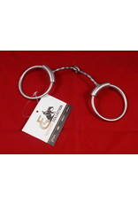 Bit* Brushed Slow Twist Snaffle. MP 5 1/8, CP Loose Ring - #255341