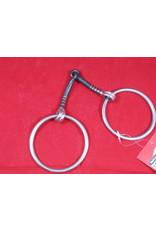 BIT* Loose Ring Snaffle - Black Steel - copper inlay - 2 3/4' rings - #255441-50