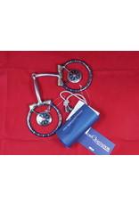 BIT* D-Ring Snaffle - Rowel Concho - Blue - #257385