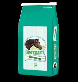Hoffman's 16% Crunchies - 15kg bag H100800B   Crude Protein (Min.)16.0% Crude Fat (Min.)4.5% Crude Fiber (Min.)18.0%Vitamin A (Min.)17,500 IU/kg Vitamin E (Min.)150 IU/kg NSC- 22%