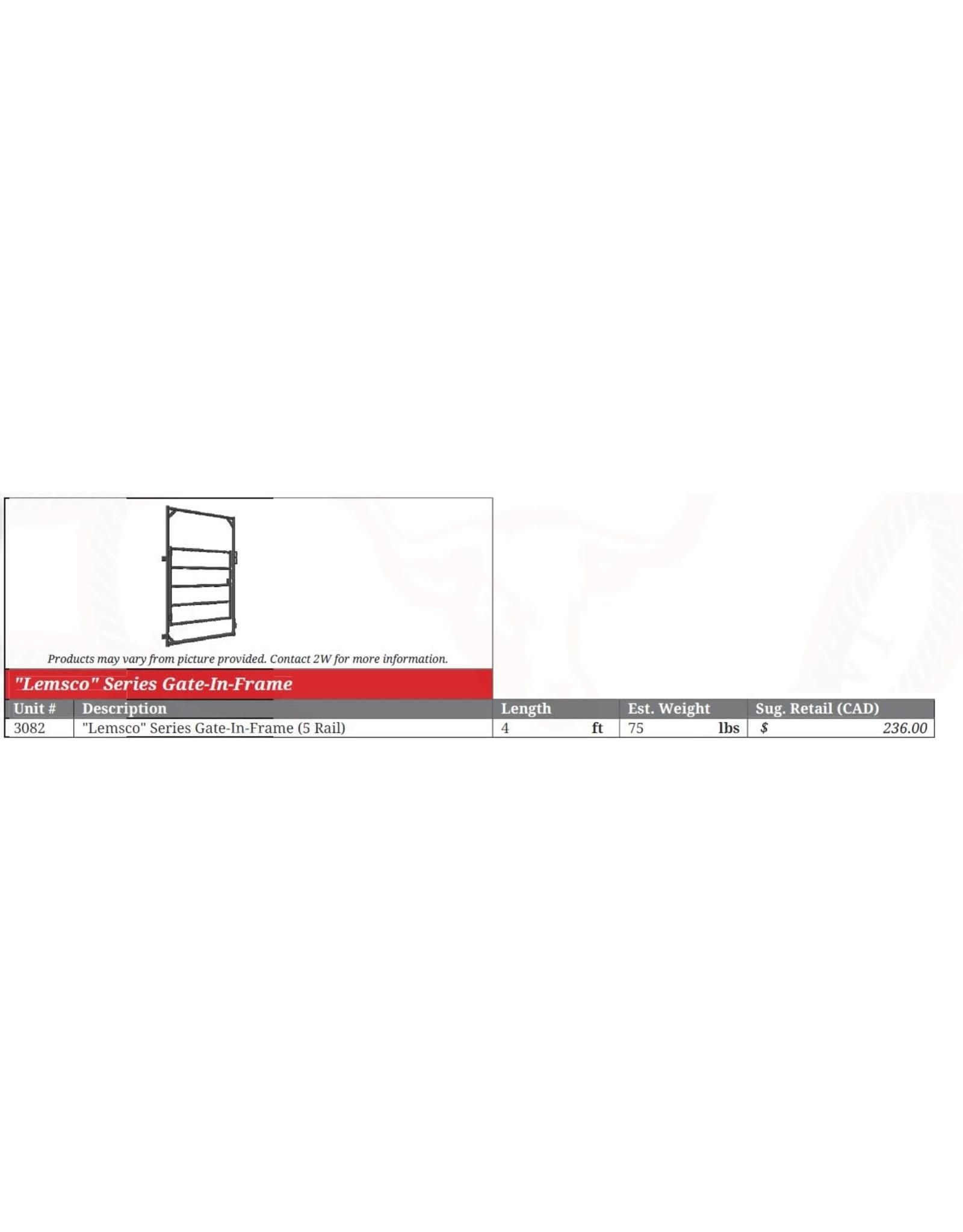 4' - 500 Gate in Frame - 3178