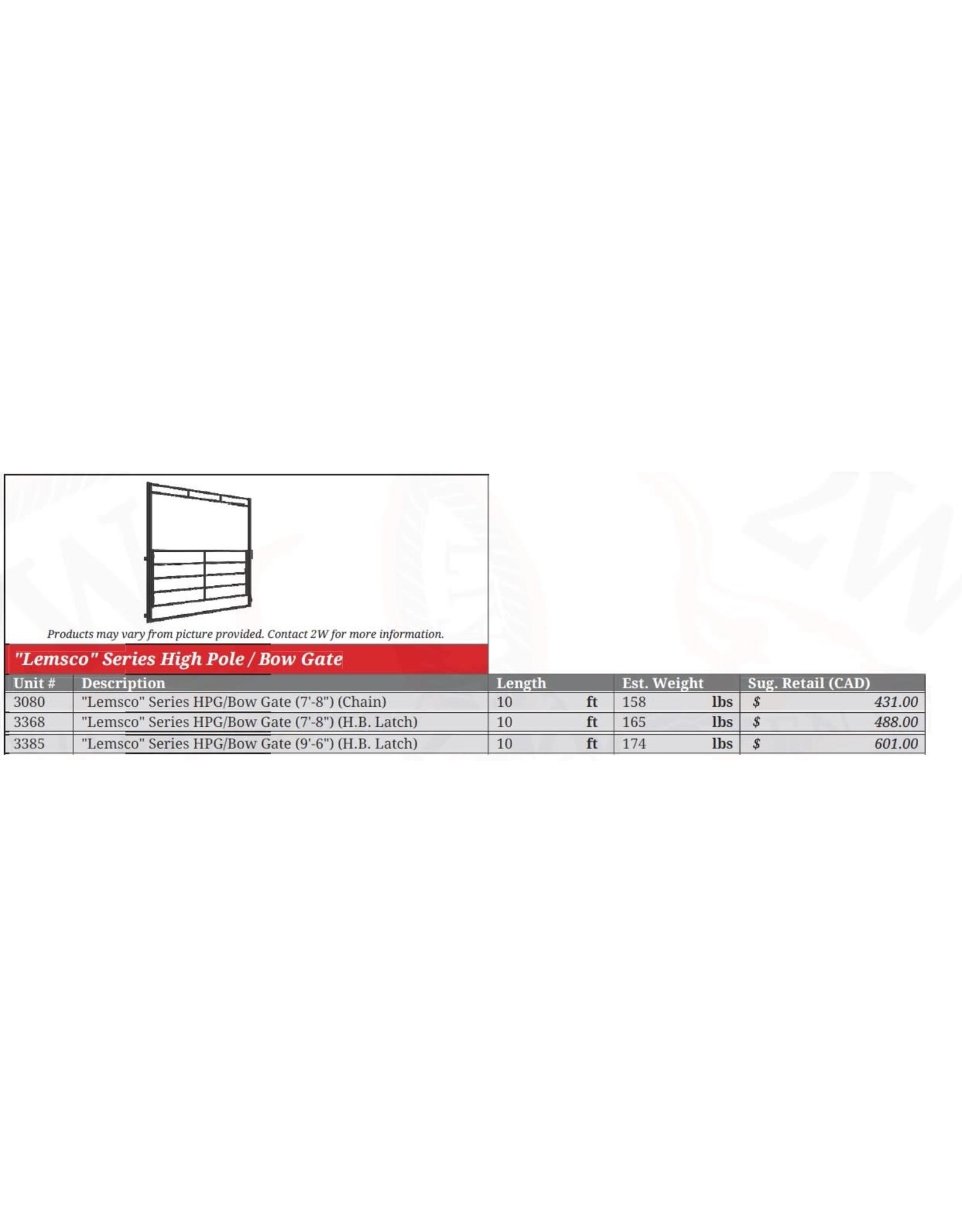16' High Pole Gate 500 Series (6 ft high, 6 rail ) w/ Horsebacklatch - 3207