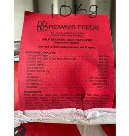 BROWN'S CALF STARTER MILK REPLACER  - 10 kg BAG B1110