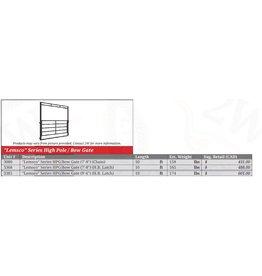 8' - 500 Series High Pole Gate c/w Horseback Latch (6ft high-6 rail- 9'1 clearance) Gate in Frame- 3202