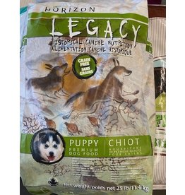 HORIZON LEGACY* PUPPY Grain Free-Chicken, Salmon,Turkey, ( Green/White Bag) Fruit,Veges - 25LB 11.4 kg 49160