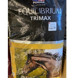 "PURINA EQUILIBRIUM TRIMAX 20 KG F8203554000TZ20 **NO water needed *GUT HEALTH**  Equilibrium Trimax utilizes the latest research on the nutritional requirements for optimal performance and gut health while minimizing ""tying-up"". CP35540"