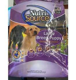 NUTRI SOURCE* - LARGE BREED PUPPY CHICKEN AND RICE - 30LB  (Bag Light Purple)*999N
