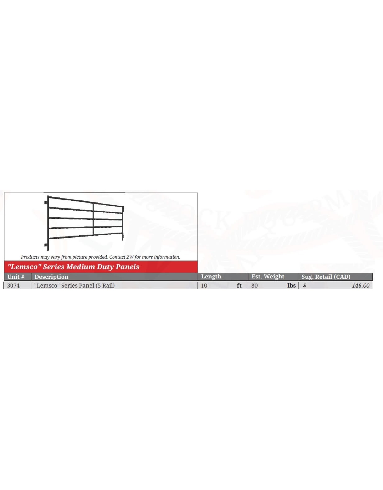 SALE  8' - Panel Lemsco   *** WILL NOT REORDER *** SALE IF BUY ALL ***  - 3073