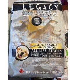 HORIZON LEGACY* GRAIN FREE -30bpy Salmons, -  (Grey/Black Bag) All Life Stages 11.4kg 25lb  White Fish, Fruit, Veges    *9999P DNR    4900171
