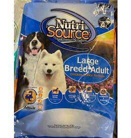 NUTRI SOURCE* - LARGE BREED ADULT - CHICKEN AND RICE - 33LB (Bag Blue) 26101-8