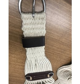 CIN* 100%  Mohair Roper Cinch - 30'' #35-2431 (mid cinch with leather under and one leather cinch holder basic hardware)