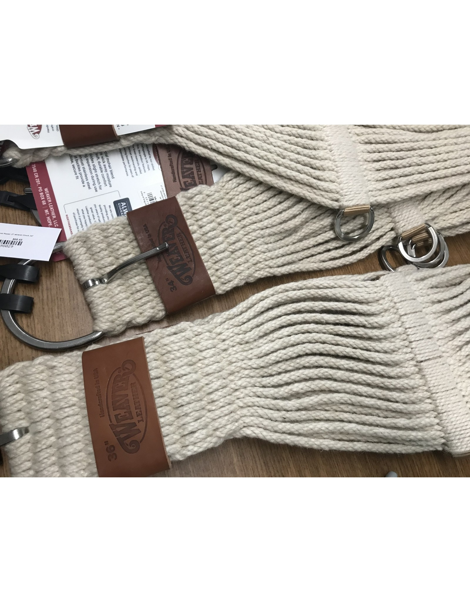 CIN* Mohair Blend Roper 27 strand Cinch 36''       35-2416-36 AAAA*P very nice basic roper  (came with a leather cinch holder, but Weaver pic shows plain)