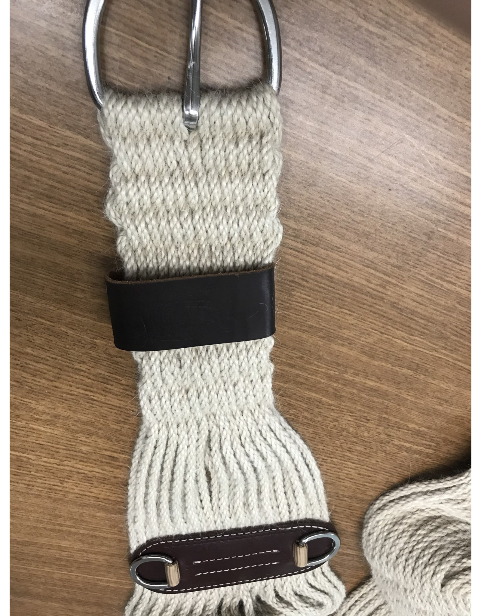 CIN* 100%  Mohair Roper Cinch - 32'' #35-2431-32 (mid cinch with leather under and one leather cinch holder basic hardware)