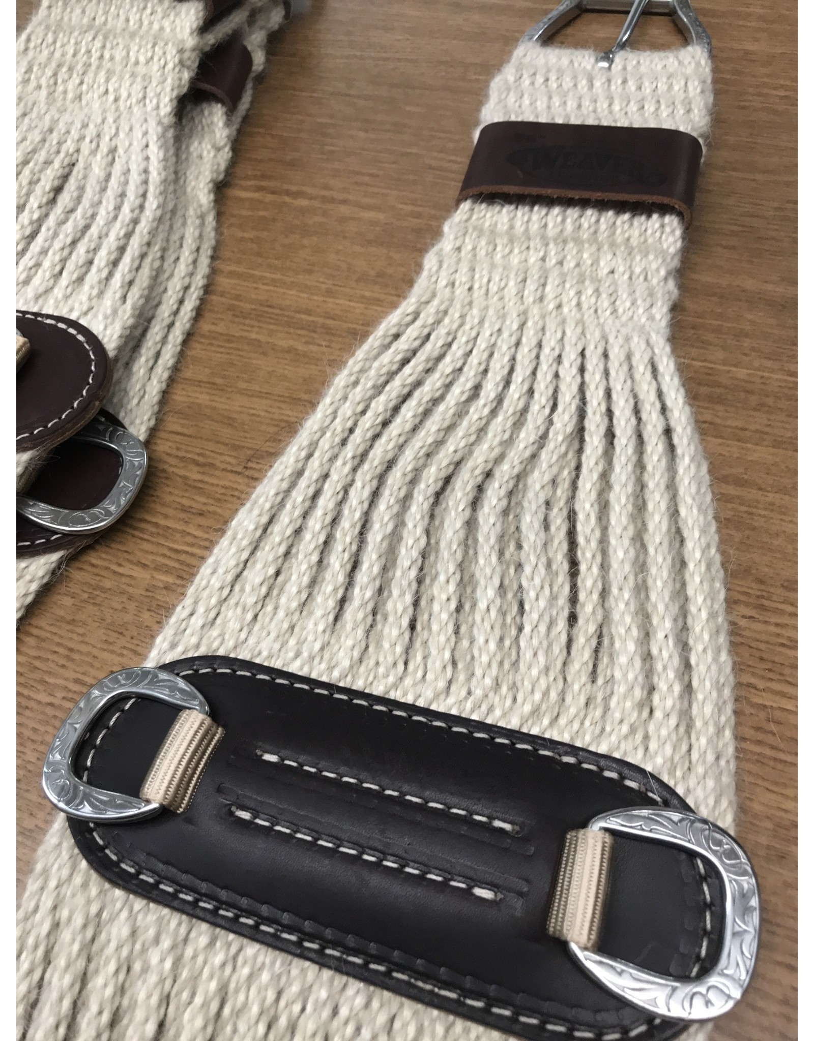 CIN* 100% Mohair Roper Cinch 28''    35-2436-28   AAAA*P (fancy roller buckles and one side leather cinch holder)