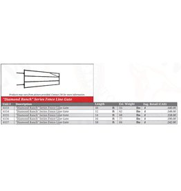 14' -  Diamond Ranch Gate 4 rail super light weight (68lb) Bolt Hinge - (these will not sag fence lines and are a perfect light weight option to do the job) Regular stock 6155