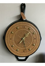 Clock - Kitchen Frying Pan Cast Iron