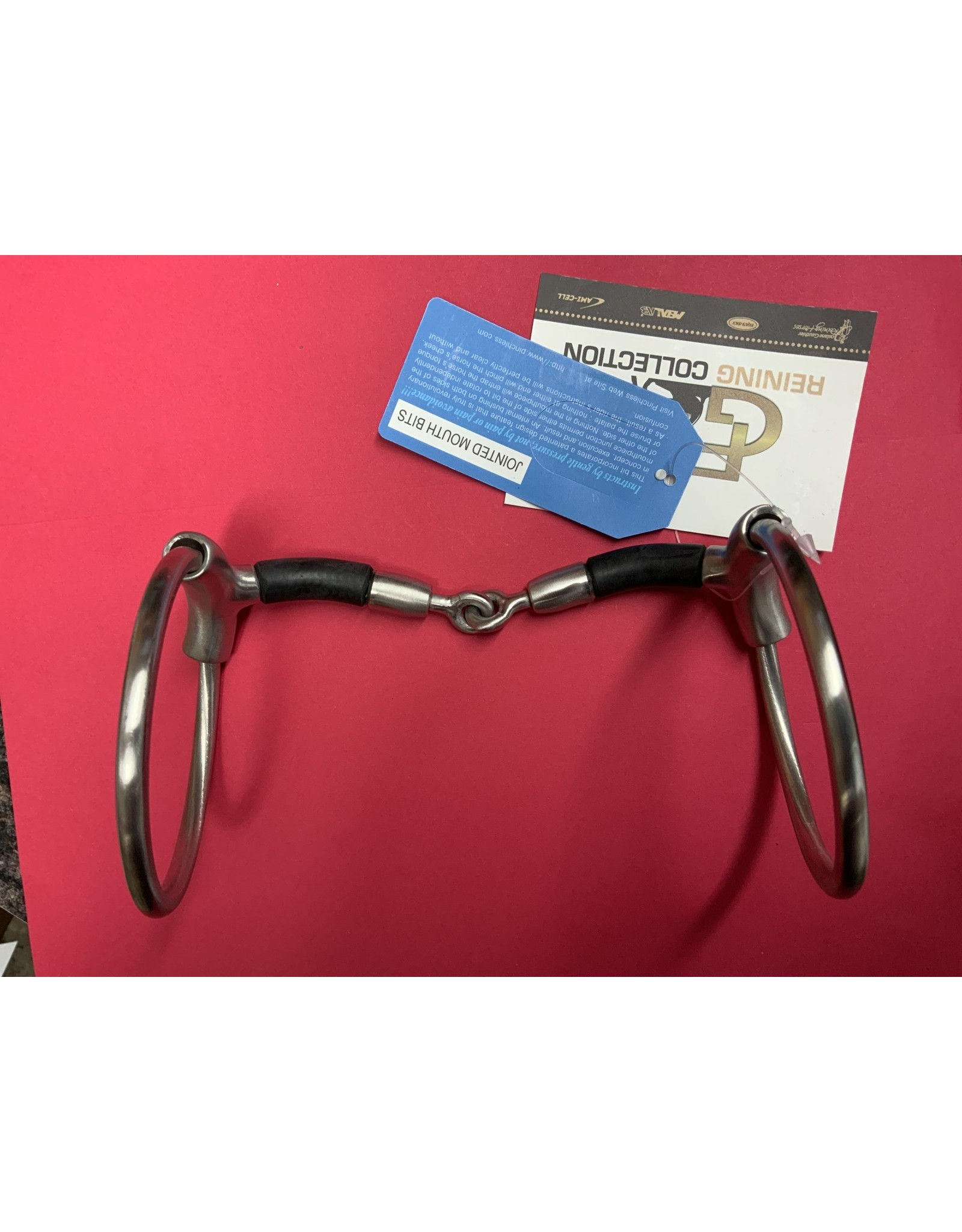 "Bit* Francois Gauthier O-ring Pinchless Snaffle w/Rubber Covered Bars 5 1/8"" 255153"