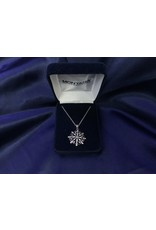CLEAR CZ SNOWFLAKE NECKLACE