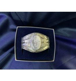 Bracelet - White Howlite w/ feather