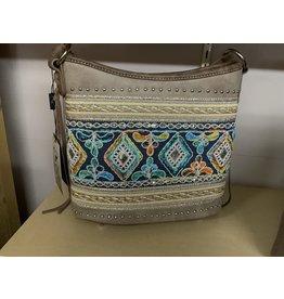Montana West - Purse - hobo collection - embroidered - Khaki - #MWMW822G-918KAKI