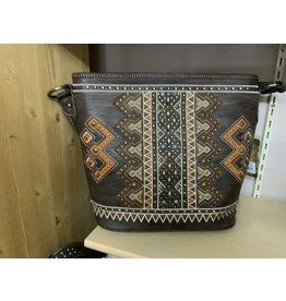 Montana West Aztec Hobo - Coffee/Orange/ - Teal conchos - #MW652-916CF