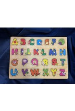 Children's Learning Wooden Letter  Alphabet Puzzle Tray Toy