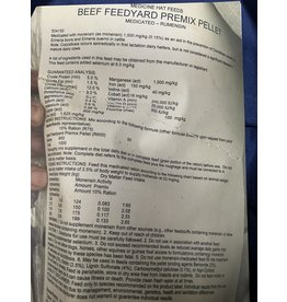 Beef Feedyard Premix Pellet w Rumensin