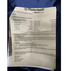 MP3 1:1 Beef Cattle Breeder Mineral (Crumble) -20 kg