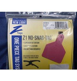 TAG* Z-Tag Calf 1PC 25's Z1 No Snag - Pink  9053616 (Special order)