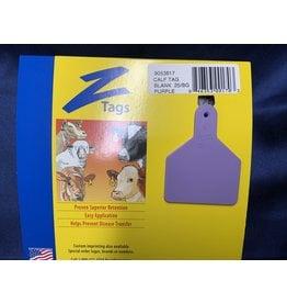 TAG* Z-Tag Calf 1PC 25's No Snag - Purple 9053617 (Special order)