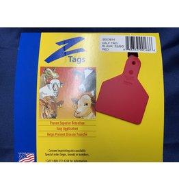 TAG* Z-Tag Calf 1PC 25's No Snag - Red 9053614 (Special order)