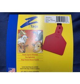TAG* Z-Tag Calf 1PC 25's No Snag - Red Code 9053614